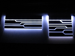 Service backplate - CG + Alim chemin lumière