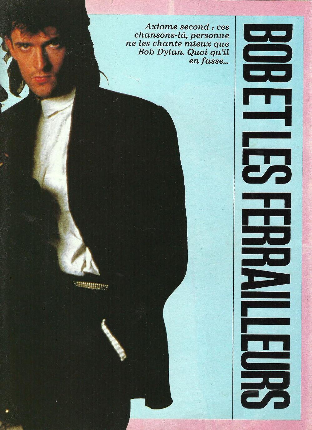 """BOB DYLAN, TOM PETTY & THE HEARTBREAKERS par LAURENT CHALUMEAU 1987 (""""Rock Folk"""") 16112708470320773814663434"""