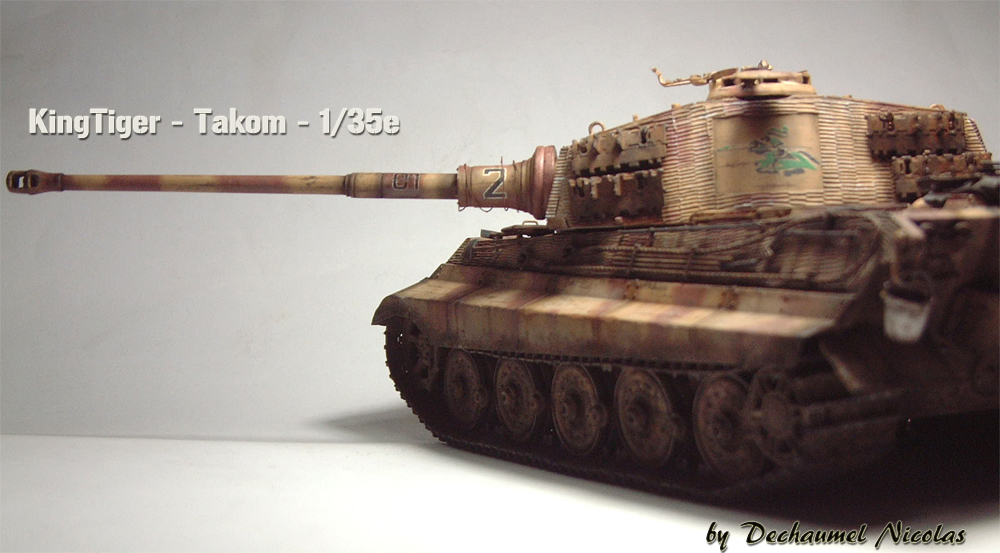 "Sdkfz-182 ""King Tiger"" - tourelle Henshel - 1/35e [Takom] 1612110436314769014700898"
