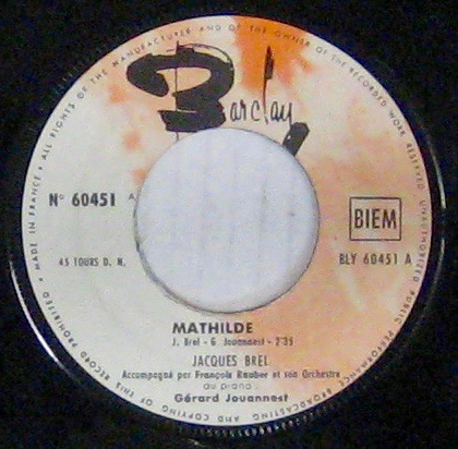 BREL JACQUES - Mathilde - 45T (SP 2 titres)
