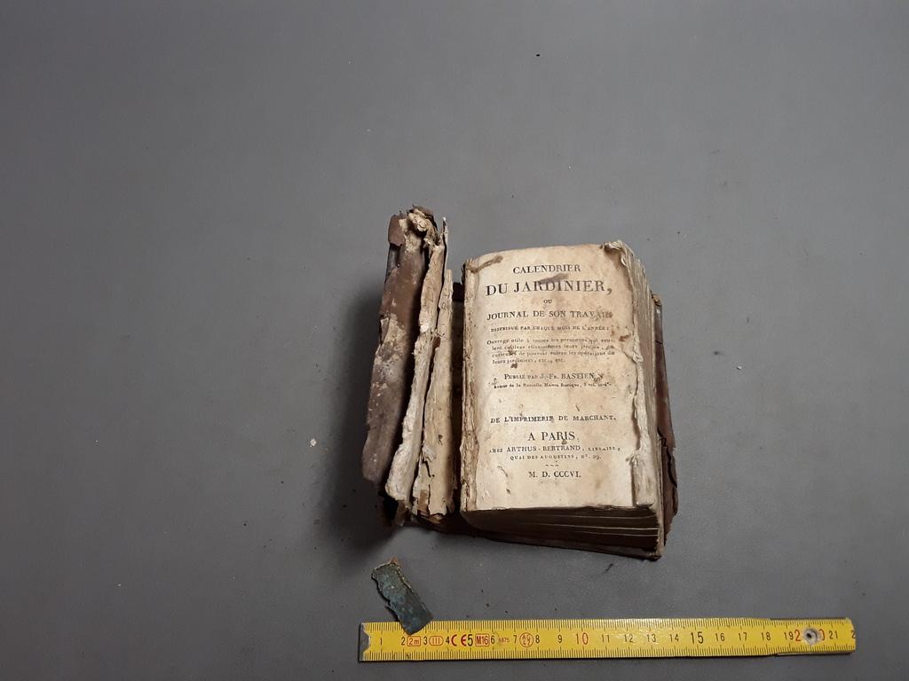 livre tr s ancien calendrier du jardinier 1806 ancien livre vieux bouquin ebay. Black Bedroom Furniture Sets. Home Design Ideas