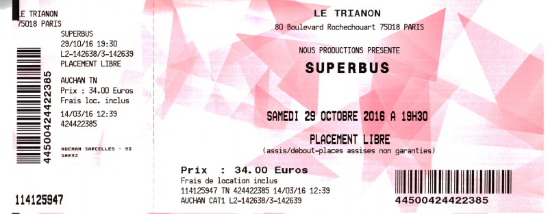 """JENN AYACHE (Superbus, album solo """"+001"""") 25/09/2014 Nouveau Casino (Paris) : compte rendu 16122402444722355014724734"""
