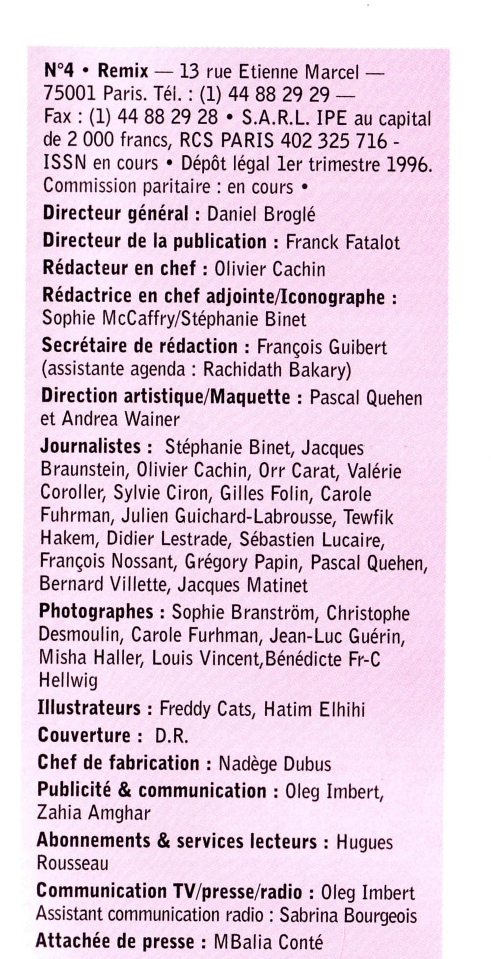 """Article sur GEORGE MICHAEL (""""Older"""") par SÉBASTIEN LUCAIRE (""""Remix"""" n°4, été 1996, rédacteur en chef OLIVIER CACHIN) 16122701262222355014728682"""