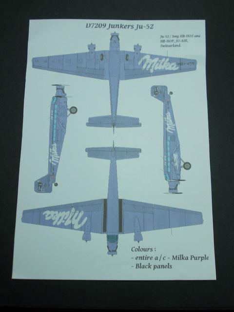 "Junkers Ju-52 ""Milka"" ( Italeri plus  décals Karaya et FFSMC au 1/72 )  17010101030710194414741609"