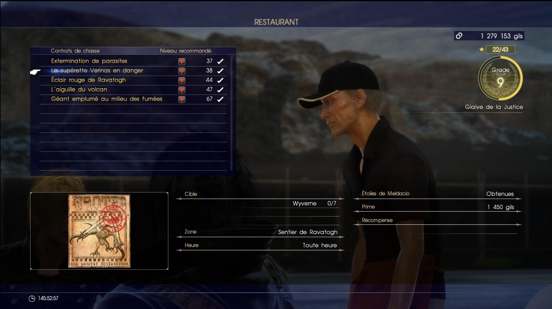 Final Fantasy xv chasse
