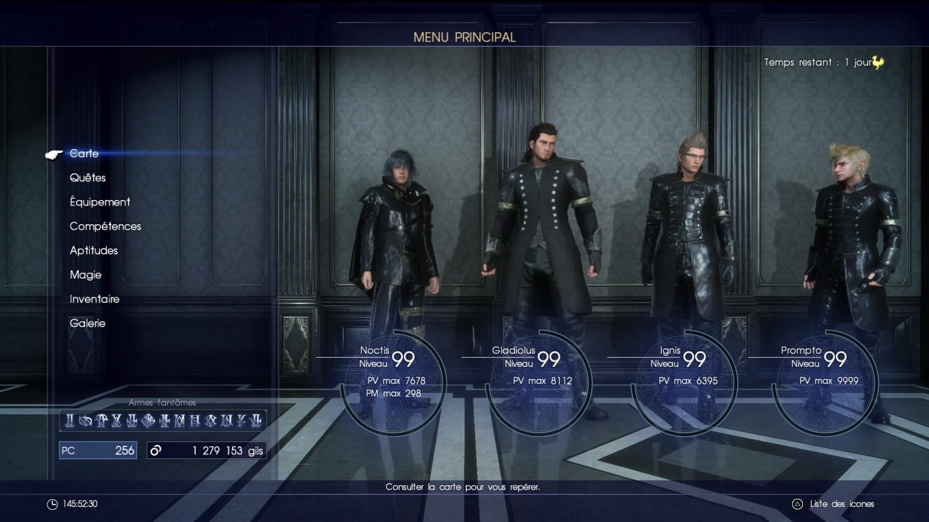 Final Fantasy XV level 99