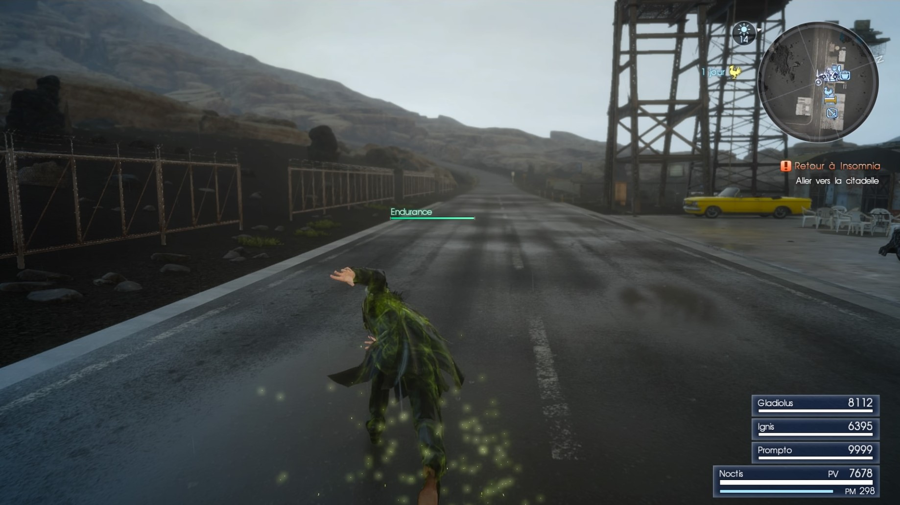 Final Fantasy XV sprint illimité