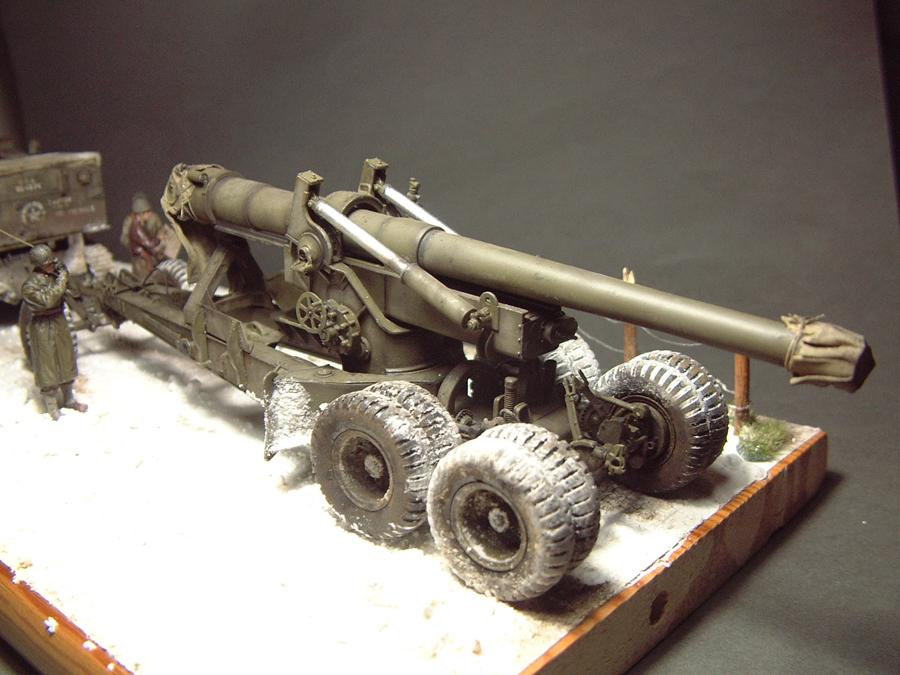 M4 High Speed Tractor - 1/35e [Hobby Boss] + Long Tom [AFV Club] 1701190716254769014784525