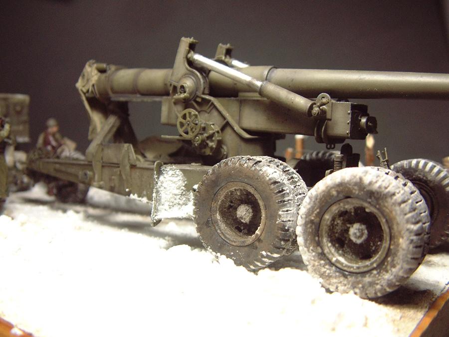 M4 High Speed Tractor - 1/35e [Hobby Boss] + Long Tom [AFV Club] 1701190716374769014784527