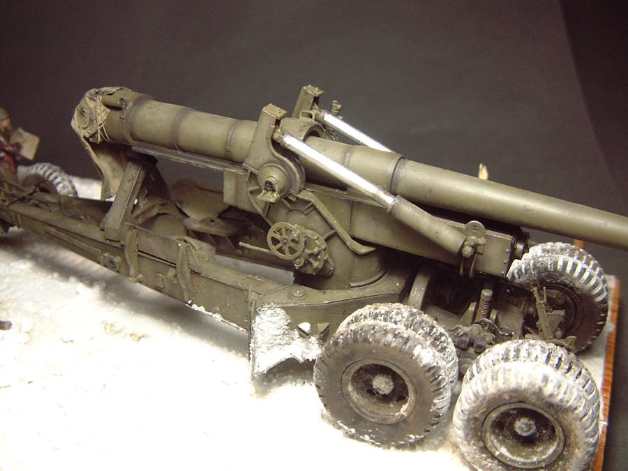 M4 High Speed Tractor - 1/35e [Hobby Boss] + Long Tom [AFV Club] 1701190716454769014784528