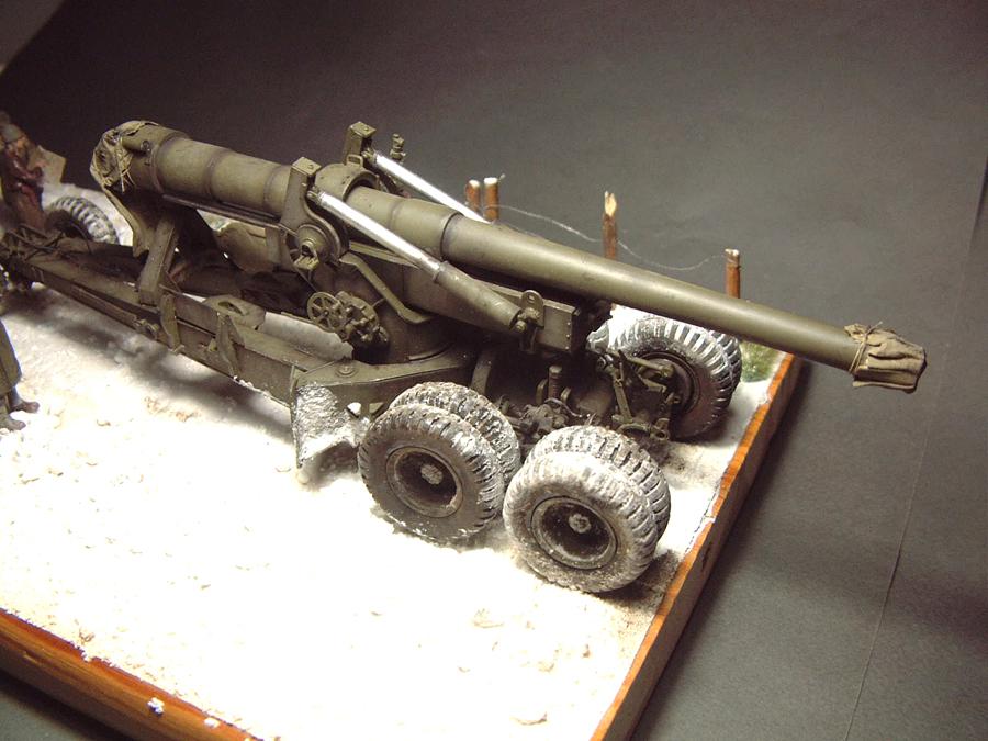 M4 High Speed Tractor - 1/35e [Hobby Boss] + Long Tom [AFV Club] 1701190717434769014784537