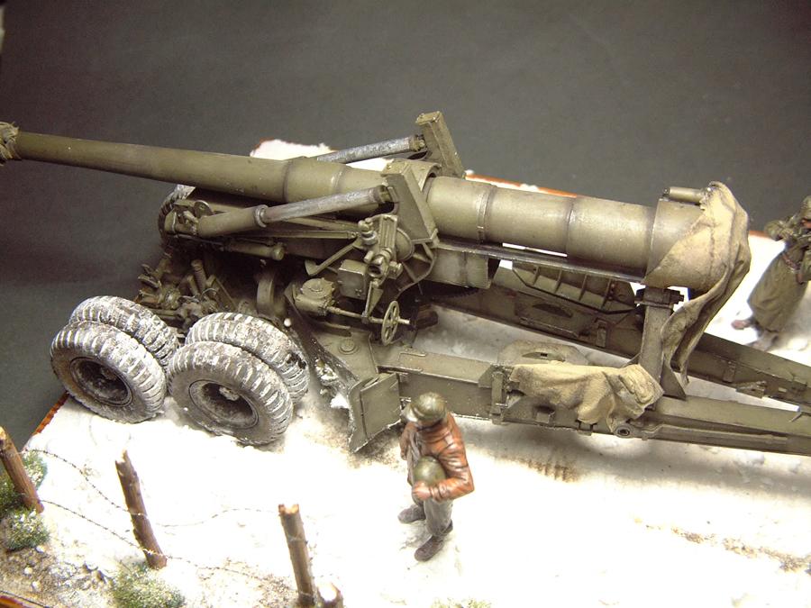M4 High Speed Tractor - 1/35e [Hobby Boss] + Long Tom [AFV Club] 1701190718194769014784551