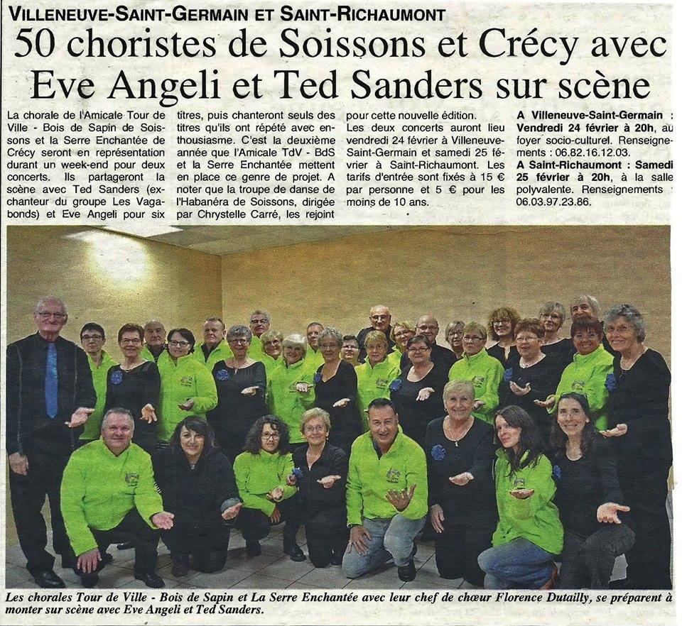 Soissons ma ville concert avec eve angeli et ted sanders for Bureau 02 villeneuve st germain